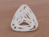 Twisted Tetrahedron (Thin) 3d printed White Strong (render)