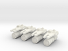 Four Earther Railgun Pods 3d printed