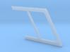 1:7.6 Ecureuil AS 350 / Window Frame 03 3d printed
