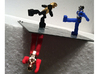 Diaclone Inchman Blue Star Limbs 3d printed Black and Red limb options shown, Blue Star shown with Inchman-Spike