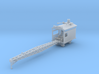 Logging rail car mounted crane Z scale 3d printed Crane Flat Car with rails Z scale
