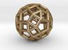 "Rhombicosidodecahedron Steel 1"" 3d printed"