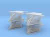 HO scale old time locomotive 4pc horizontal stave  3d printed