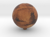Mars with relief 1:100 million 3d printed