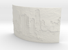 Apocalyptic City Curved Lithophane 3d printed