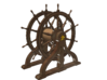 1/96 Ship's Wheel (Helm) for USS Constitution 3d printed Painting suggestion.