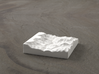 3'' Grand Canyon, Arizona, USA, Ceramic 3d printed Radiance rendering of model, looking West down the canyon.