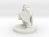 Dwarf Fighter - Hammer & Shield 3d printed