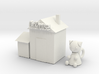 Cat doll house 3d printed
