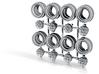 Super River 8-6 Split Hot Wheels Rims 3d printed