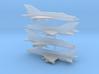 1/350 MiG-21bis Fishbed-N (x4) 3d printed