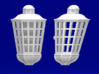 1:72 HMS Victory Lanterns 3d printed Front and side view (same for each size)