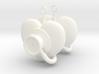 Stethoscope Earrings 3d printed