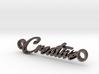 Creative Pendant - Metal 3d printed