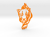 Crouching Tiger pendant 3d printed