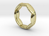 Octagonal Ring UK Size K (US Size 5) 3d printed