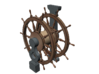 1/100 Wheel and Pedestal for Ships-of-the-Line 3d printed Painting suggestion.