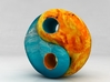 Fire and water yin yang 3d printed