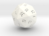 R40 randomized 40 sided die classic design 3d printed