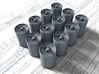 1/144 Royal Navy MKVII Depth Charges x12 3d printed 1/144 Royal Navy MKVII Depth Charges x12
