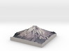 """Mount St. Helens (Pre-1980) Grayscale: 8""""x8"""" 3d printed"""