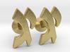 "Hebrew Monogram Cufflinks - ""Yud Gimmel"" 3d printed"