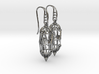 A-F Earrings 3d printed
