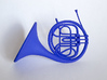 Blue French Horn Pendant 3d printed