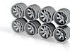 FF02 9 Hot Wheels Truck Rims 3d printed