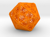 Icosahedron Unique Tessallation 3d printed