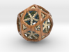 Nested dodeca & Icosa inside Icosidodecahedron 3d printed