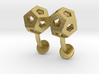 Dodecahedron Cufflinks 3d printed