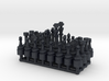 1/24 Scale Chess Pieces Sprue (Full Set) 3d printed