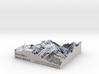 Mont Blanc Map: 1:100K 3d printed