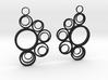 Circle earrings 3d printed