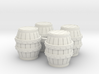 HO Scale Barrels 3d printed This is a render not a picture