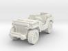Jeep airborne (radio) scale 1/87 3d printed