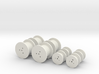 O Scale Cable Reels, Small 3d printed