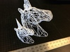 Wire Unicorn Head Statue: 12 Inch 3d printed