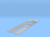 28' Bullnose Trailer kit, fluted sides, round tire 3d printed