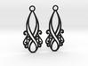 Lorelei earrings 3d printed