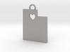 Utah Pendant with Heart 3d printed