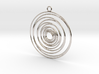 Whirlpool earrings 3d printed
