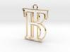 Initials B&T monogram  3d printed