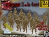1/72 Army Zombies Set001 3d printed