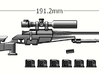 1/6 scale tactical rifle 3d printed Add a caption...
