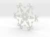 Wine Glasses & Bottles Snowflake Ornament 3d printed