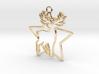 Deer & star intertwined Pendant 3d printed