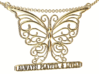 Inspiring Lively Butterfly Pendant 3d printed