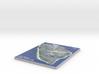 Map of Mackinac Island, Michigan 3d printed